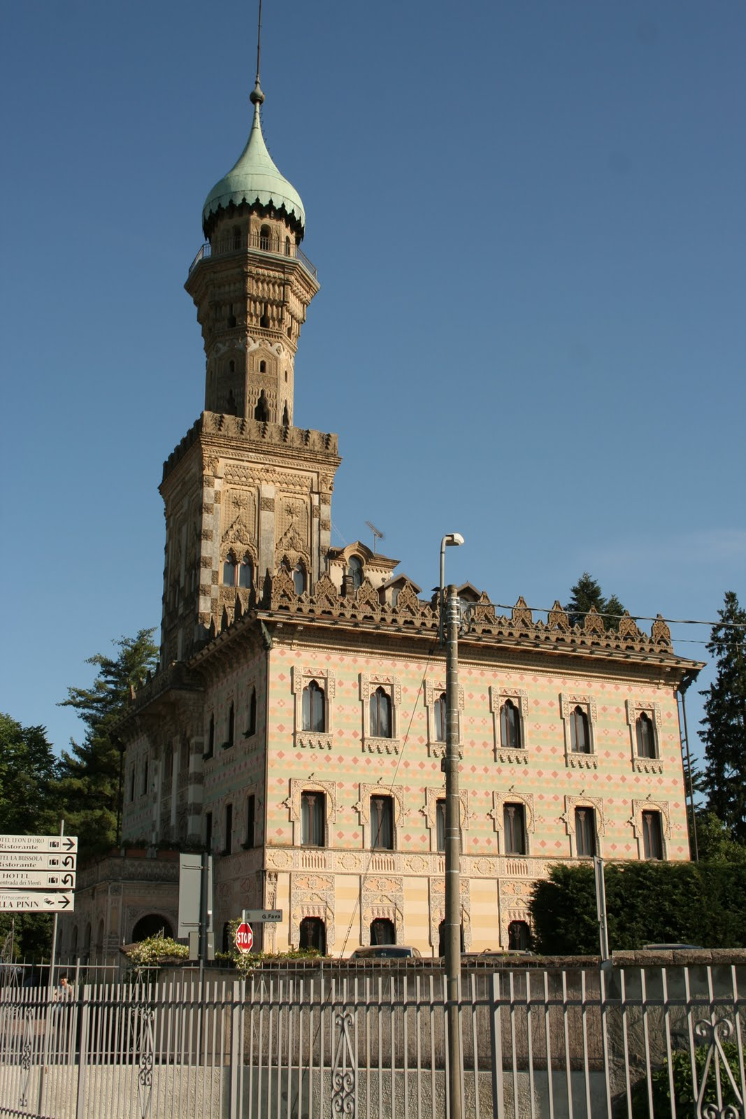 Villa Crespi at Lake Orta